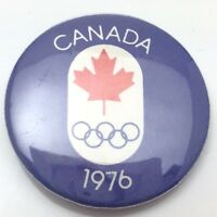 1976 Canada Montreal Olympic Canadian Pin Back Button C925