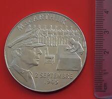 MODERN Metal French France Medal Medallion Military WW2 USA General MacArthur