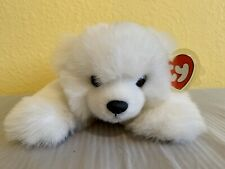 "TY White Polar Bear Paws Beanie Baby Stuffed Animal Plush 11"" 1997"