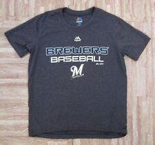 Milwaukee Brewers Majestic Athletic MLB Baseball Shirt ~ Youth Small S 8 ~ Gray