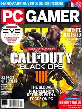 Pc Gamer Magazine August 2018 #307 Call of Duty:Black Ops 4 - Eve Online.