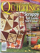 American Patchwork & Quilting Magazine Oct 2012 Scrappy Fall Looks
