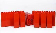LEGO bricks 1x2x5 x20 panels # RED pillar column walls castle fire station