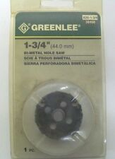 """Greenlee 826-1-3/4"""" (44.0 mm) Bi-Metal Hole Saw. UPC # 38498 New in Blister pack"""