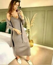 Zara Dark Grey Knit Dress And Cardigan Co Ord Size L Sold Out