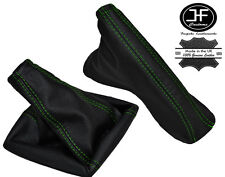 GREEN STITCH REAL LEATHER GEAR HANDBRAKE GAITER FOR VAUXHALL ASTRA H MK5 04-09
