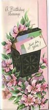 VINTAGE GARDEN CLIMBING FLOWERS MAGNOLIA TOLE MAIL BOX BDAY GREETING CARD PRINT