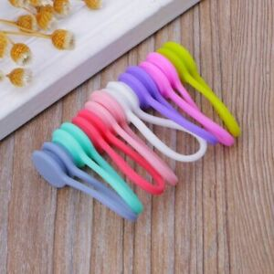 Magnetic Silicone Cord Organisers Clips Earphone Wire Wrap Cable Ties Bowl