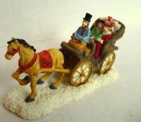 Grandeur Victorian Village Noel Victorian Christmas Horse Buggy Miniature 1995