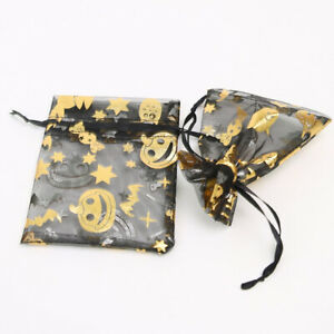 "30pcs 5.2x7.2"" Halloween Premium Organza Mesh Bag Satin Drawstring Candy Bag"