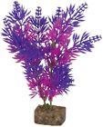 GloFish Plant Aquarium Decor Purple  Pink M 7.5 inch Aqua heavy weighted decor