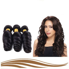 "3bundles/150g 12"" Peruvian weaves 100% Human Hair Extension Virgin loose Wave"