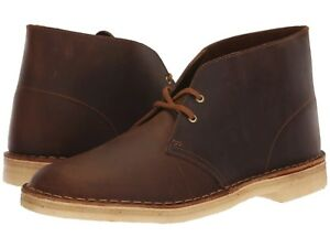 Men's Shoes Clarks Originals DESERT BOOT Leather Chukkas 38221 BEESWAX