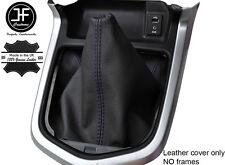 Púrpura Cuero Cosido Manual Gear gaiter se ajusta Navara NP300 D23 2015-2017