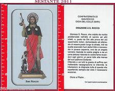 2077 SANTINO HOLY CARD S. SAN ROCCO ORAZIONE GIOIA DEL COLLE BA