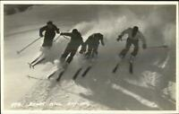 Down Hill Skiing Western Canada Byron Harmon Real Photo Postcard #974
