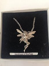 """Fairy PP-G01  Emblem on Silver Platinum Plated Necklace 18"""""""