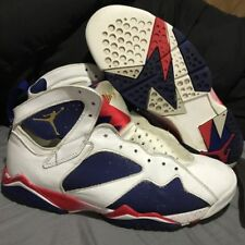 Nike Air Jordan 7 Retro Olympic Usa Alternate Navy Red Size 12.5 Hare