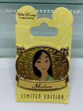 Disney WDI Mulan Princess Plaque Pin LE 300 Imagineering
