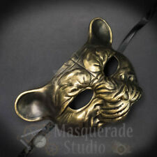 Leopard Haunted Animal Spirit Wall Decoration Halloween Masquerade Mask [Gold]