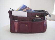 Women Travel Insert Handbag Organizer Purse Large Liner Tidy Bag Pouch(Wine Red)