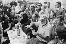 ERNEST HEMINGWAY 8X10 PHOTO American author drinking street Nobel Prize Winner