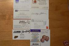 WINNINGEST COACH HARRY STATHAM SIGNED BUSINESS CARD