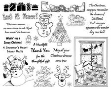Unmounted Rubber Stamps Sheets, Christian Stamps, Christmas, Holiday, Sayings