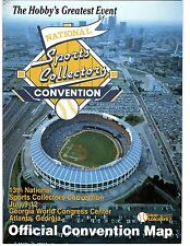 RARE 13th National Sports Collectors Convention Map July 9-12, 1992