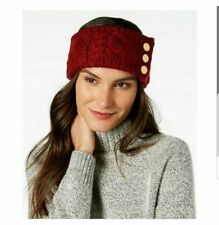 Michael Kors Cable Knit Three Button Headband Red - Nwt