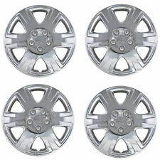 "Brand New Set of 4 15"" Chrome Hubcaps Wheel Covers for 2003-2013 Toyota Corolla"