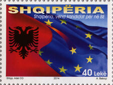 Albania Stamps 2014. EU candidate country. Flag. Set MNH