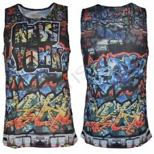 Brave Soul Crew Neck Sleeveless Graphic T-Shirts for Men