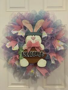 Easter Spring Deco Mesh Wreath
