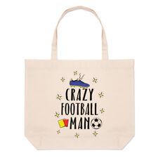 Crazy Fútbol Playa Bolso Grande de Hombre-Gracioso fútbol Shopper Hombro