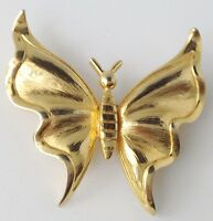 broche rétro papillon couleur or forme en relief top qualité 395