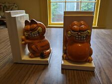 Vintage Garfield Ceramic Bookends
