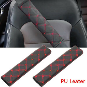 2Pack Car Safety Seat Belt Pads Cover Shoulder Strap Covers Cushion Harness Pad