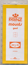 Prinz Scott Stamp Mount 45/265 BLACK Background Pack of 10