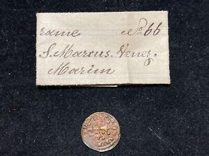 VENEZIA Marino Grimani (1595-1605) Sesino con cartellino di vecchia raccolta