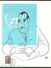 UNITED NATIONS WFUNA ARTIST ART PRINT BY AL HIRSCHFELD  #277/500
