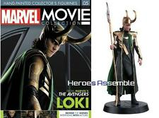 MARVEL MOVIE COLLECTION #5 LOKI FIGURINE MAGAZINE TOM HIDDLESTON EAGLEMOSS NEW
