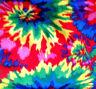 """Fleece Fabric Tie Tye Dye Starburst Print Multicolor Swirls 60"""" By The Yard"""