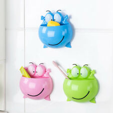 Cute Bathroom Toothbrush Holder Wall Mount Suction Cup Toothpaste Storage Racks