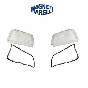 For Mercedes W202 C230 C280 Pair Set of 2 Headlight Lenses OEM Magnetti Marelli