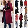 Outwear Women's Lady Winter Warm Lapel Jacket Wool Trench Parka Coat Overcoat