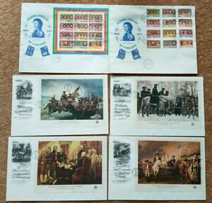 USA FDC 1976 Interphil 76 with mini sheet set of 4, and 1977 St. Vincent Silver