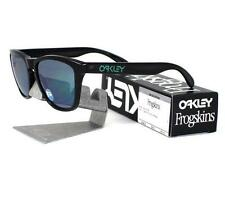 Oakley OO 9013-11 POLARIZED FROGSKINS Black Ink Jade Iridium Mens Sunglasses