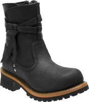 Harley-Davidson® Women's Mercer Black Leather Motorcycle Riding Boots D87163