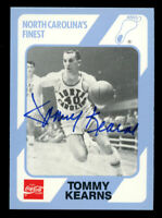Tommy Kearns #84 signed autograph 1989 North Carolina's Finest Collegiate Card